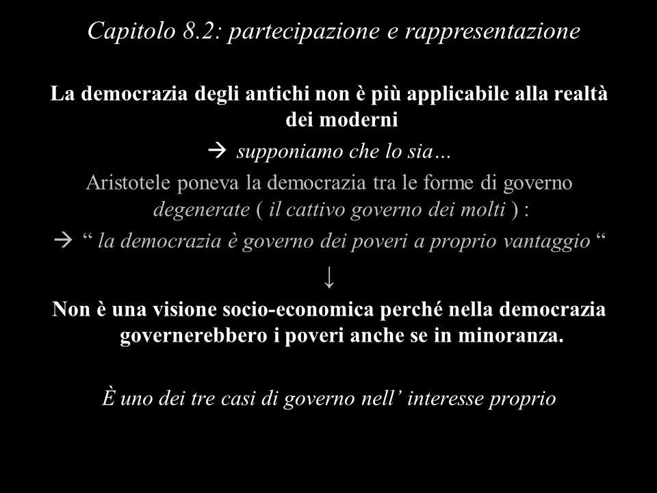 Capitolo 8.2: partecipazione e rappresentazione