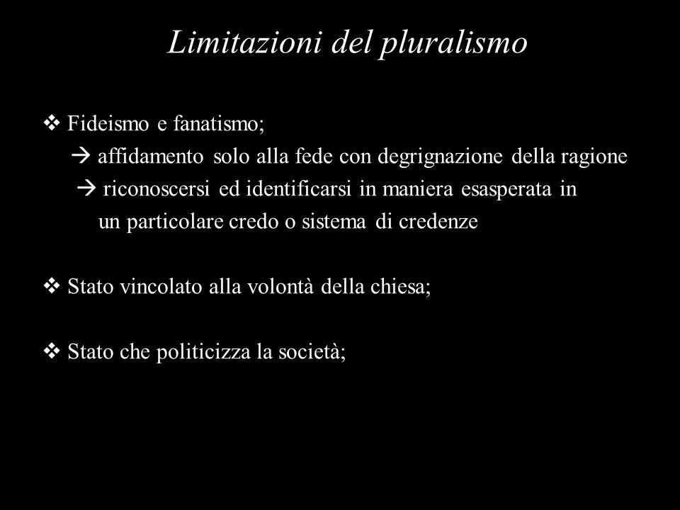 Limitazioni del pluralismo