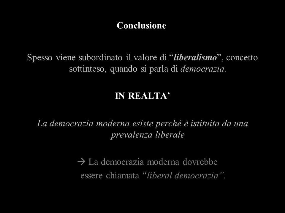 Conclusione IN REALTA'