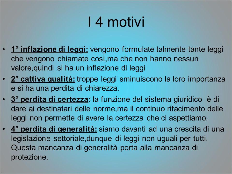 I 4 motivi