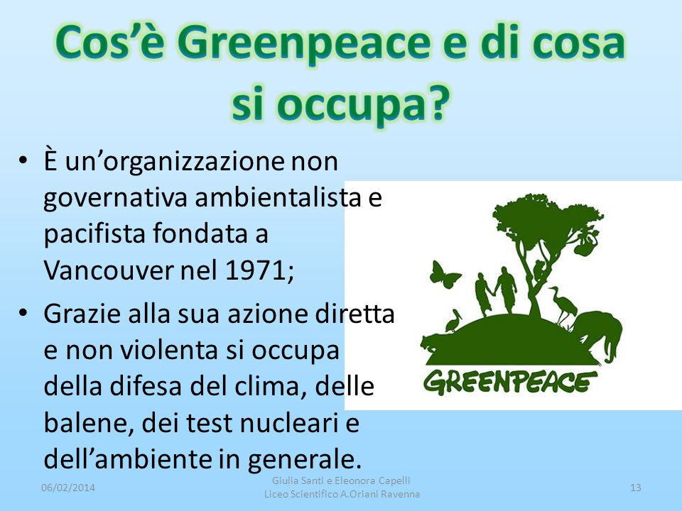 Cos'è Greenpeace e di cosa si occupa