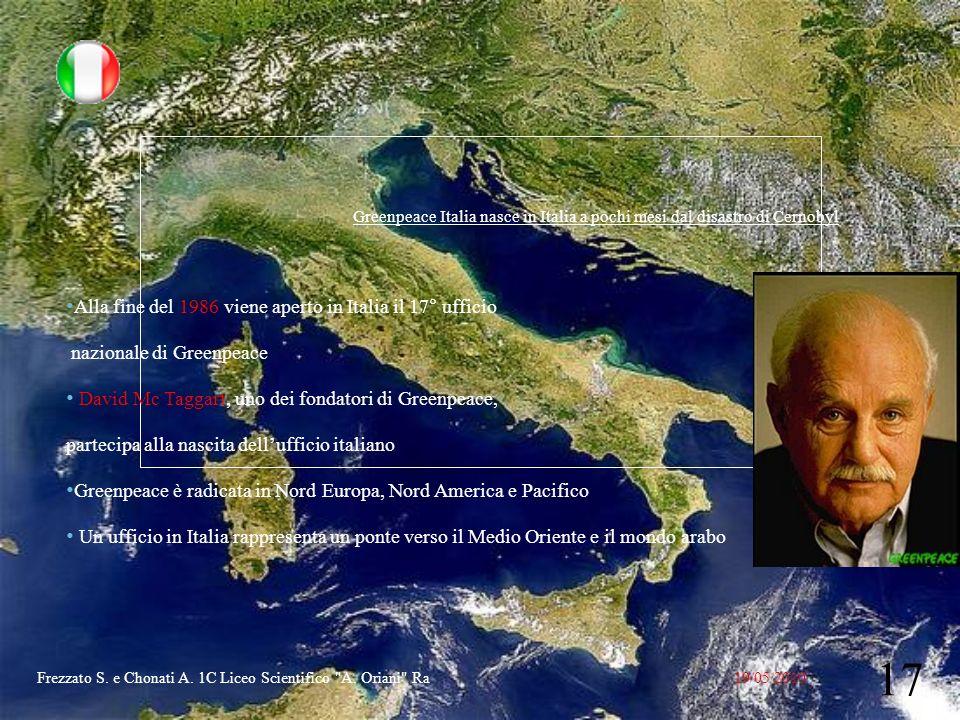 Alla fine del 1986 viene aperto in Italia il 17° ufficio