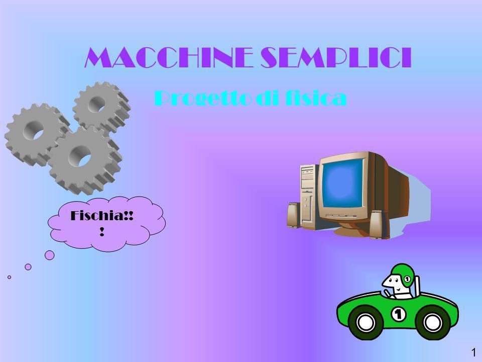 MACCHINE SEMPLICI Progetto di fisica Fischia!!! 1