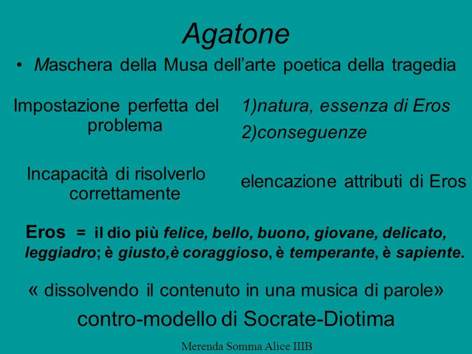 Agatone « dissolvendo il contenuto in una musica di parole»