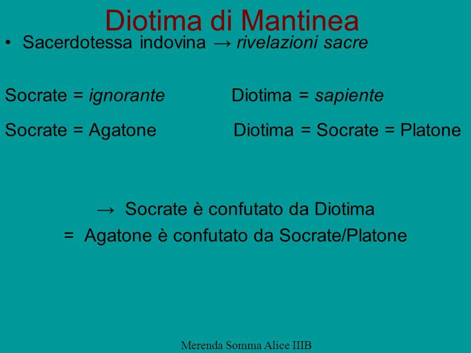 Diotima di Mantinea Sacerdotessa indovina → rivelazioni sacre