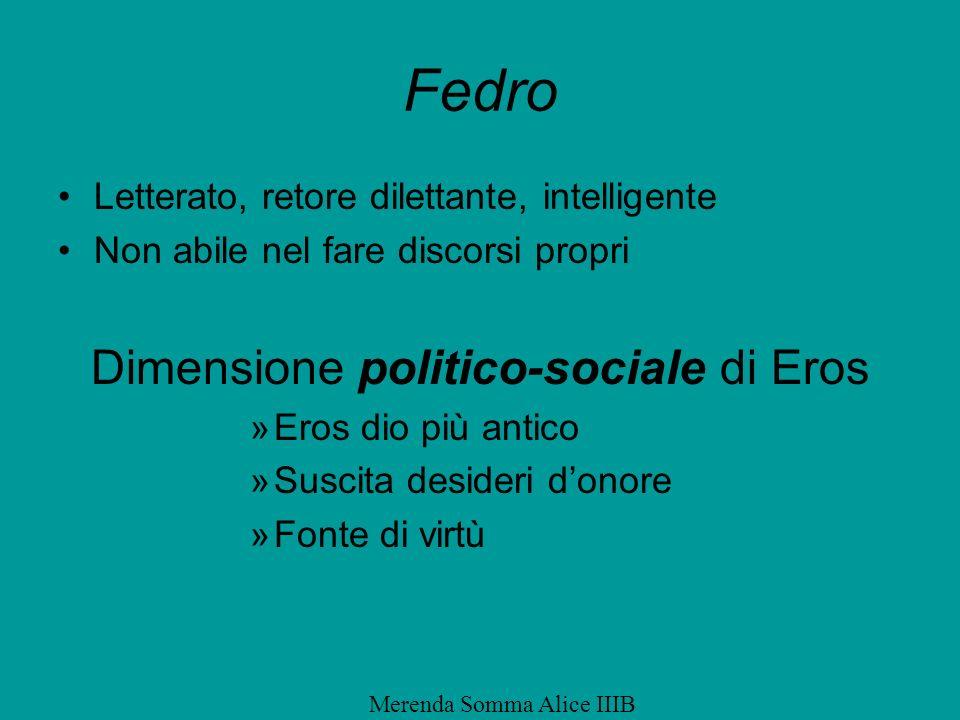 Fedro Dimensione politico-sociale di Eros