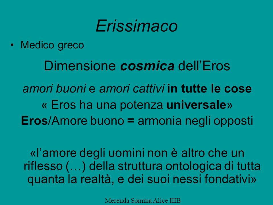 Erissimaco Dimensione cosmica dell'Eros
