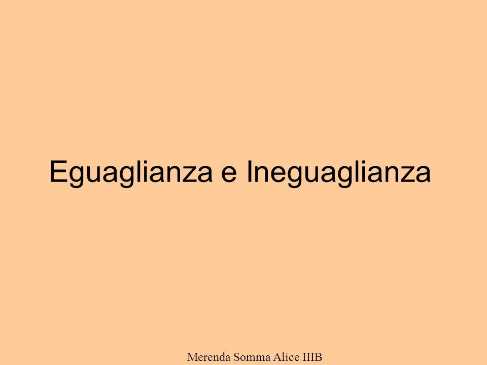 Eguaglianza e Ineguaglianza