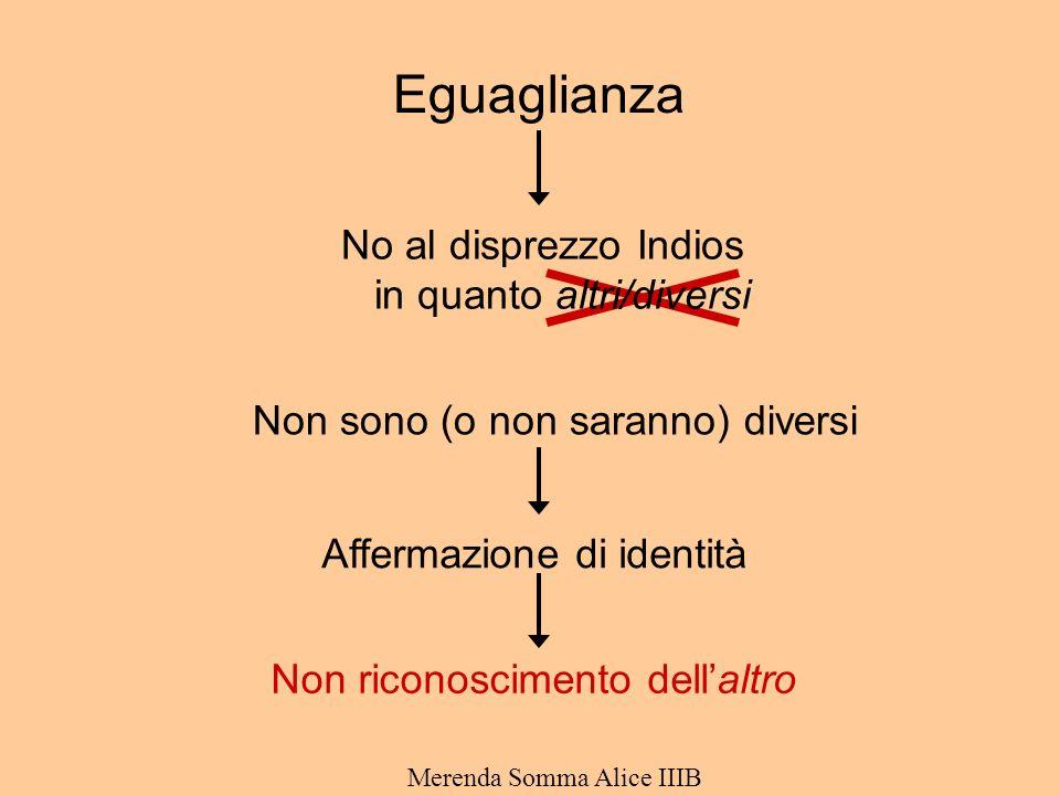 Eguaglianza No al disprezzo Indios in quanto altri/diversi