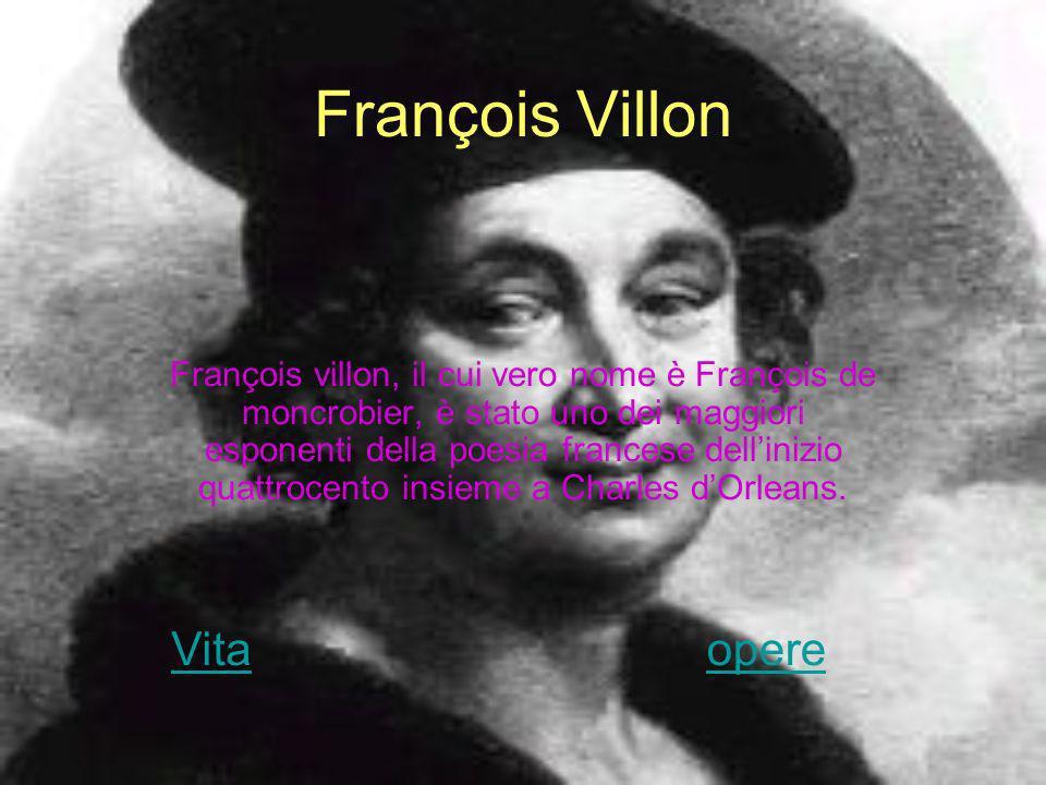 François Villon Vita opere