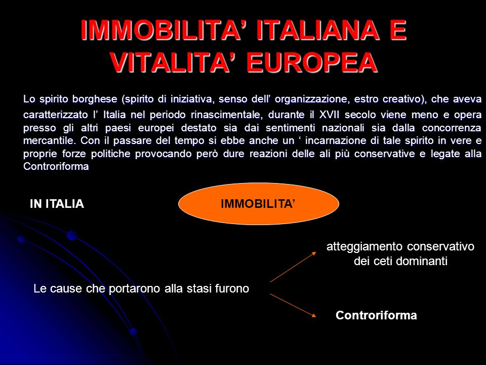 IMMOBILITA' ITALIANA E VITALITA' EUROPEA