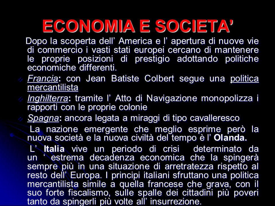 ECONOMIA E SOCIETA'