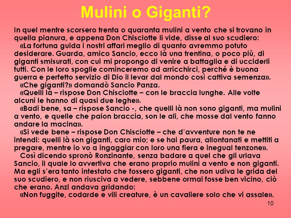 Mulini o Giganti