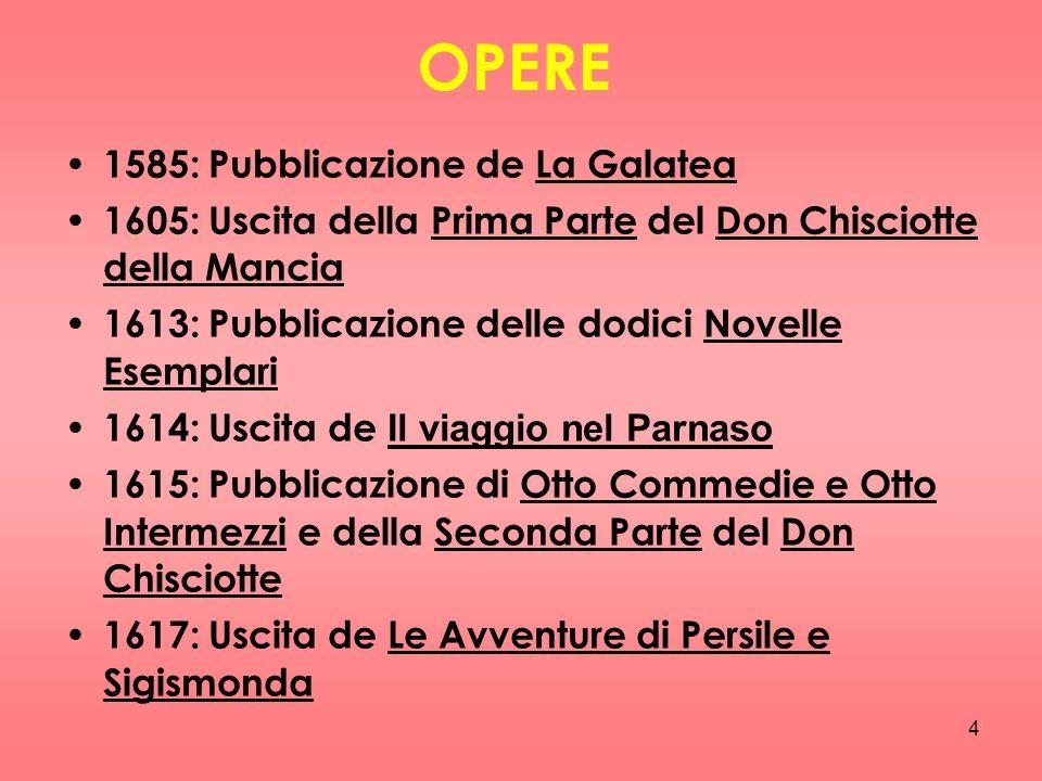 OPERE 1585: Pubblicazione de La Galatea