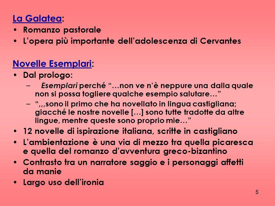 La Galatea: Novelle Esemplari: Romanzo pastorale