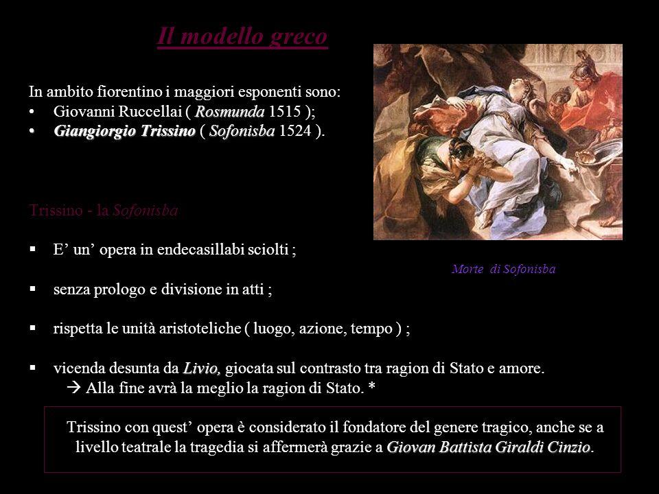 Il modello greco In ambito fiorentino i maggiori esponenti sono: