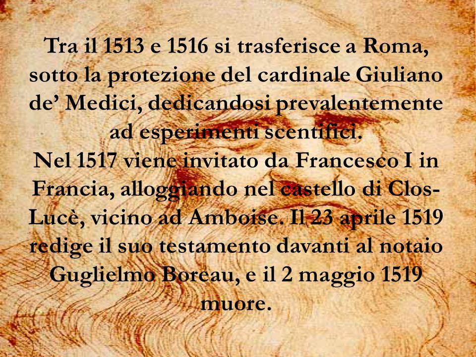 Tra il 1513 e 1516 si trasferisce a Roma, sotto la protezione del cardinale Giuliano de' Medici, dedicandosi prevalentemente ad esperimenti scentifici.