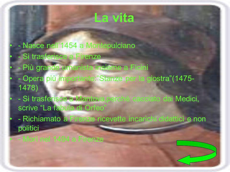 La vita - Nasce nell'1454 a Montepulciano - Si trasferisce a Firenze