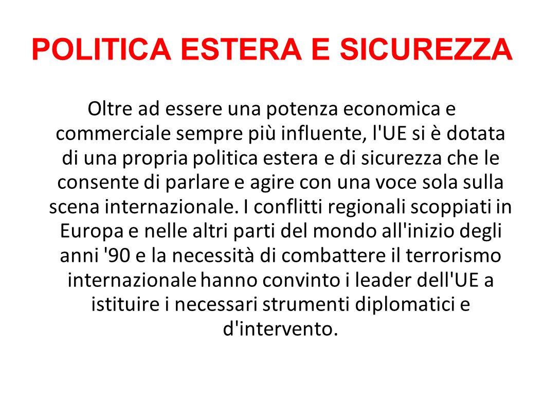 POLITICA ESTERA E SICUREZZA