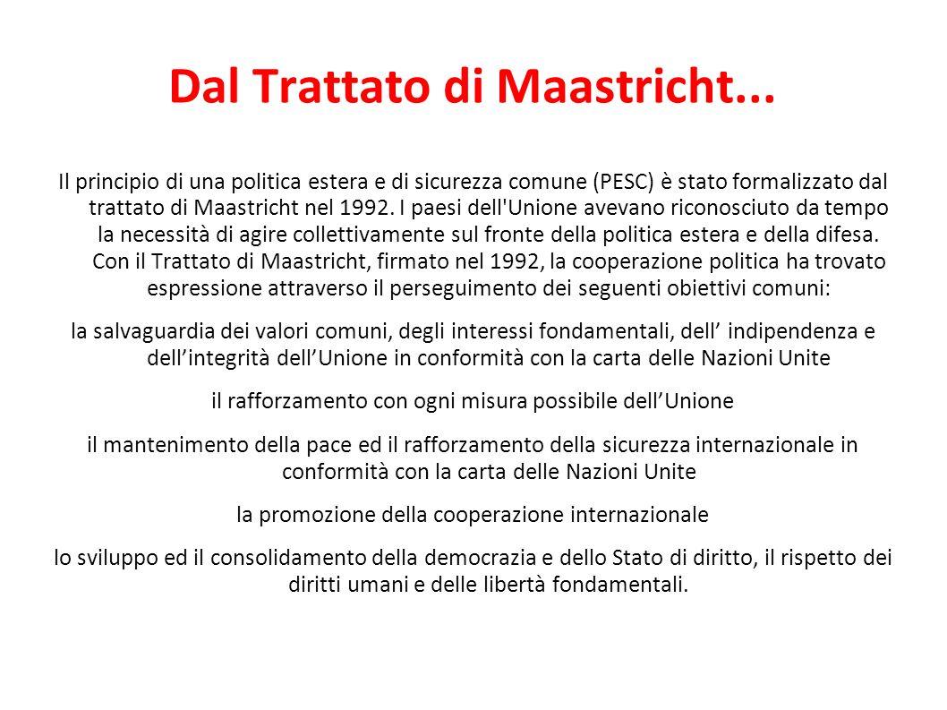 Dal Trattato di Maastricht...