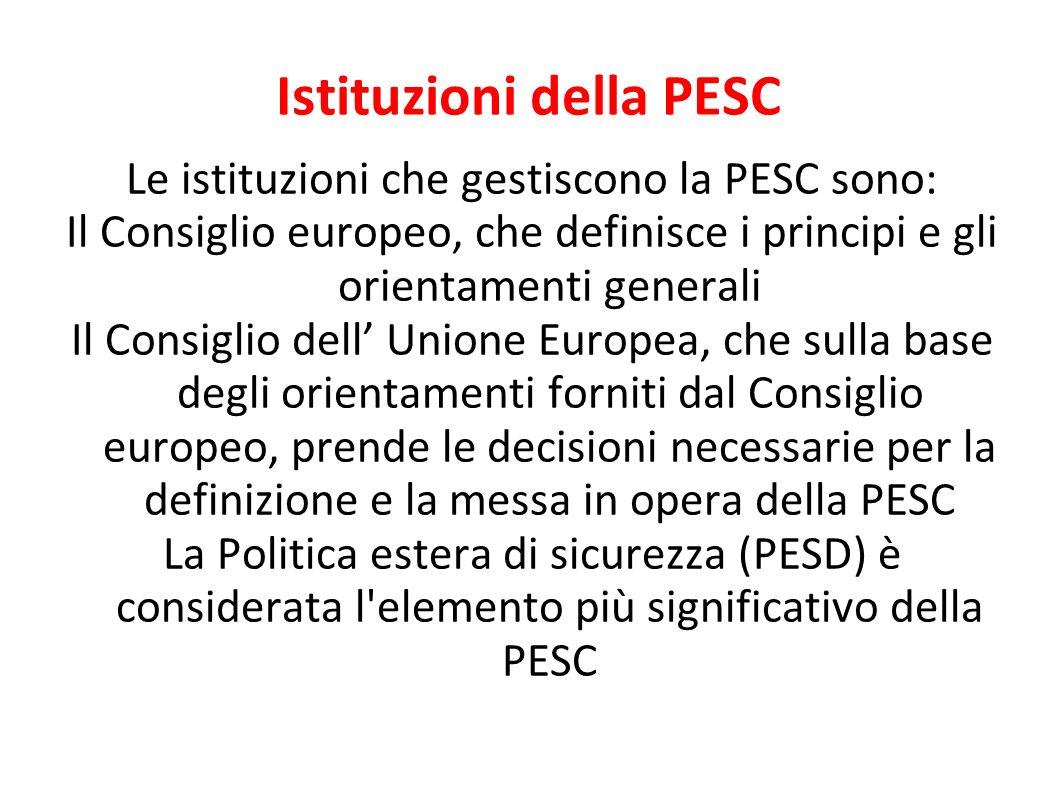 Istituzioni della PESC