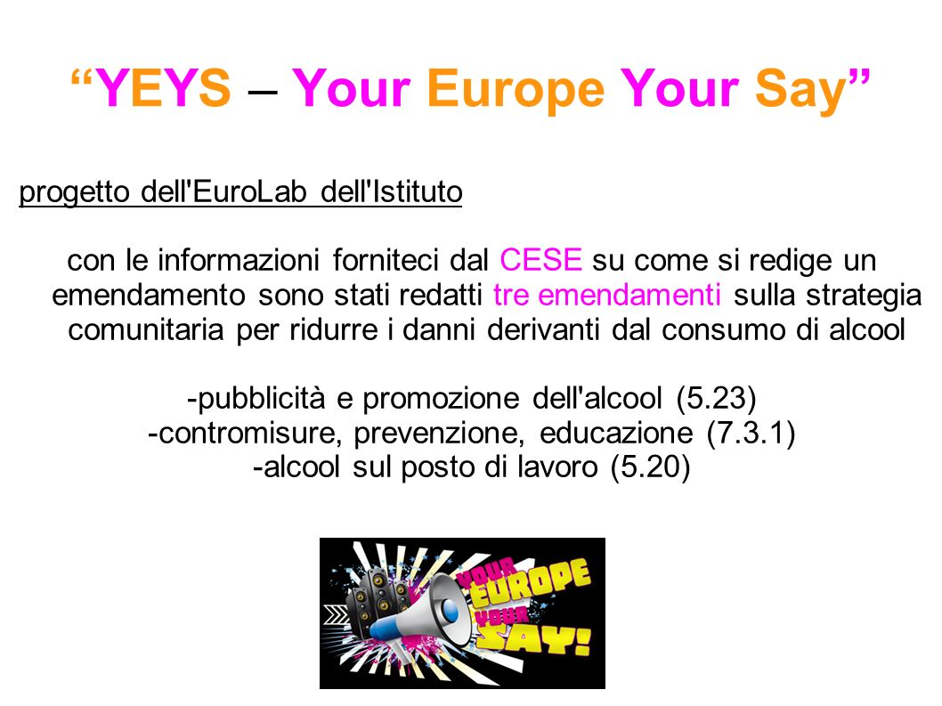 YEYS – Your Europe Your Say