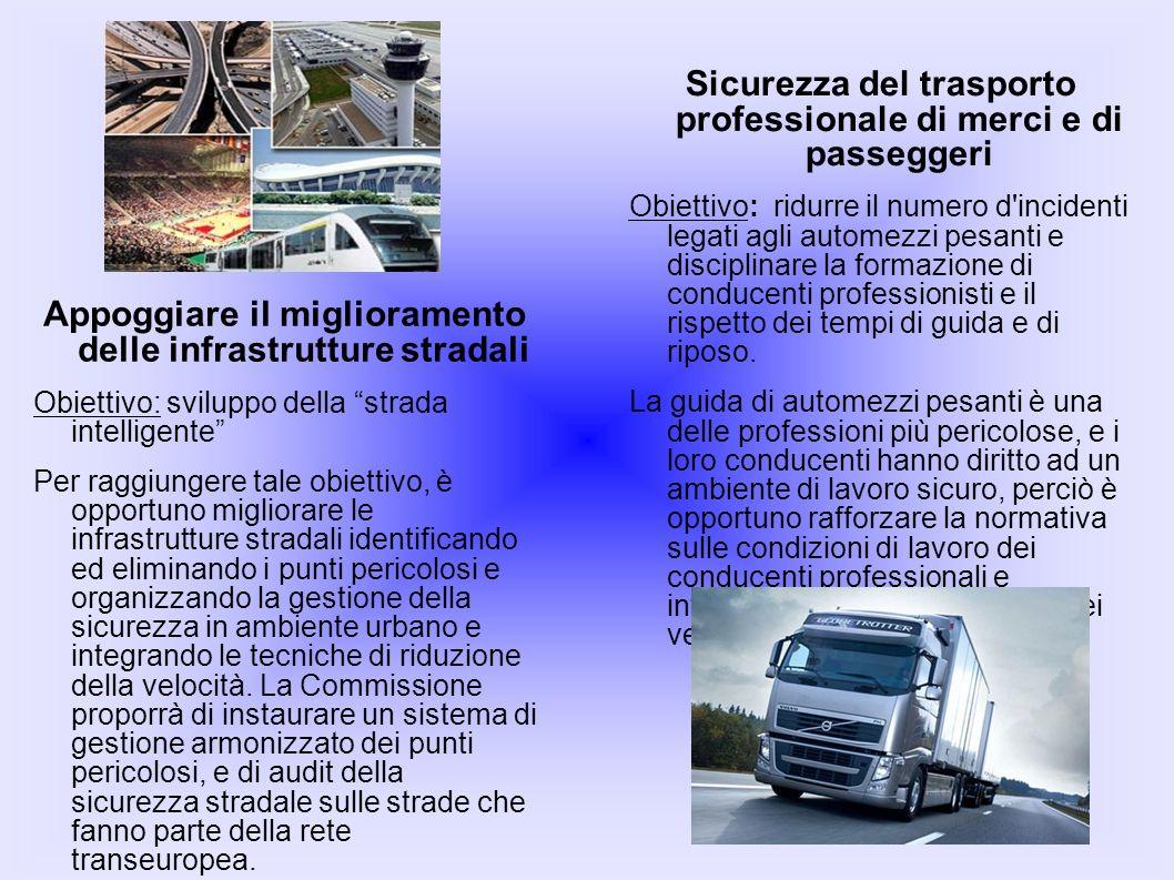 Appoggiare il miglioramento delle infrastrutture stradali