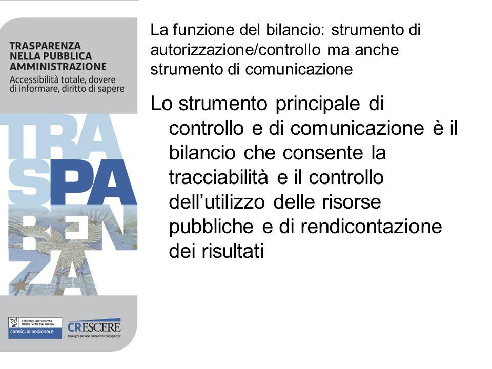 La funzione del bilancio: strumento di autorizzazione/controllo ma anche strumento di comunicazione