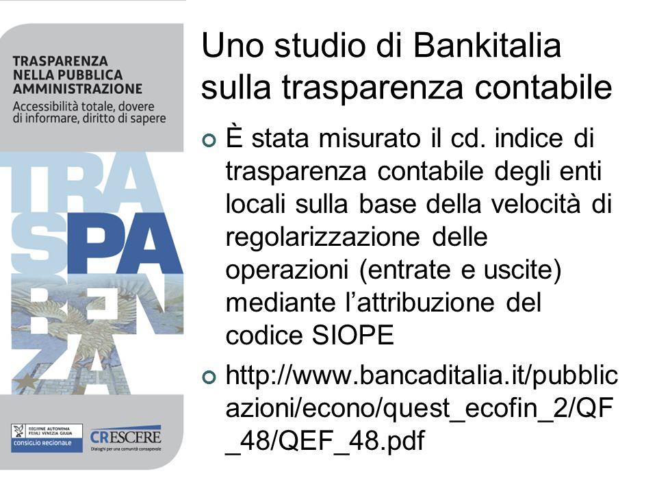 Uno studio di Bankitalia sulla trasparenza contabile