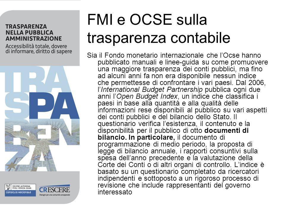 FMI e OCSE sulla trasparenza contabile
