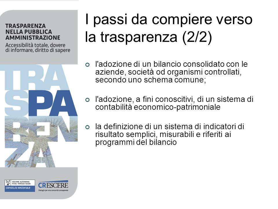 I passi da compiere verso la trasparenza (2/2)