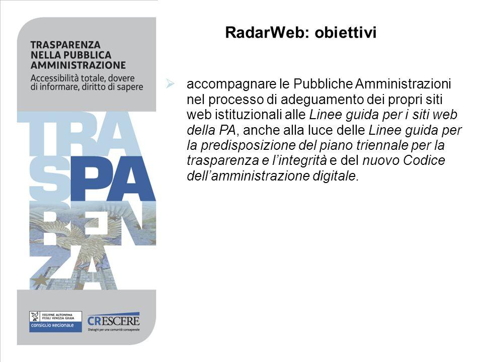 RadarWeb: obiettivi