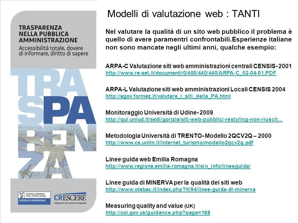 Modelli di valutazione web : TANTI