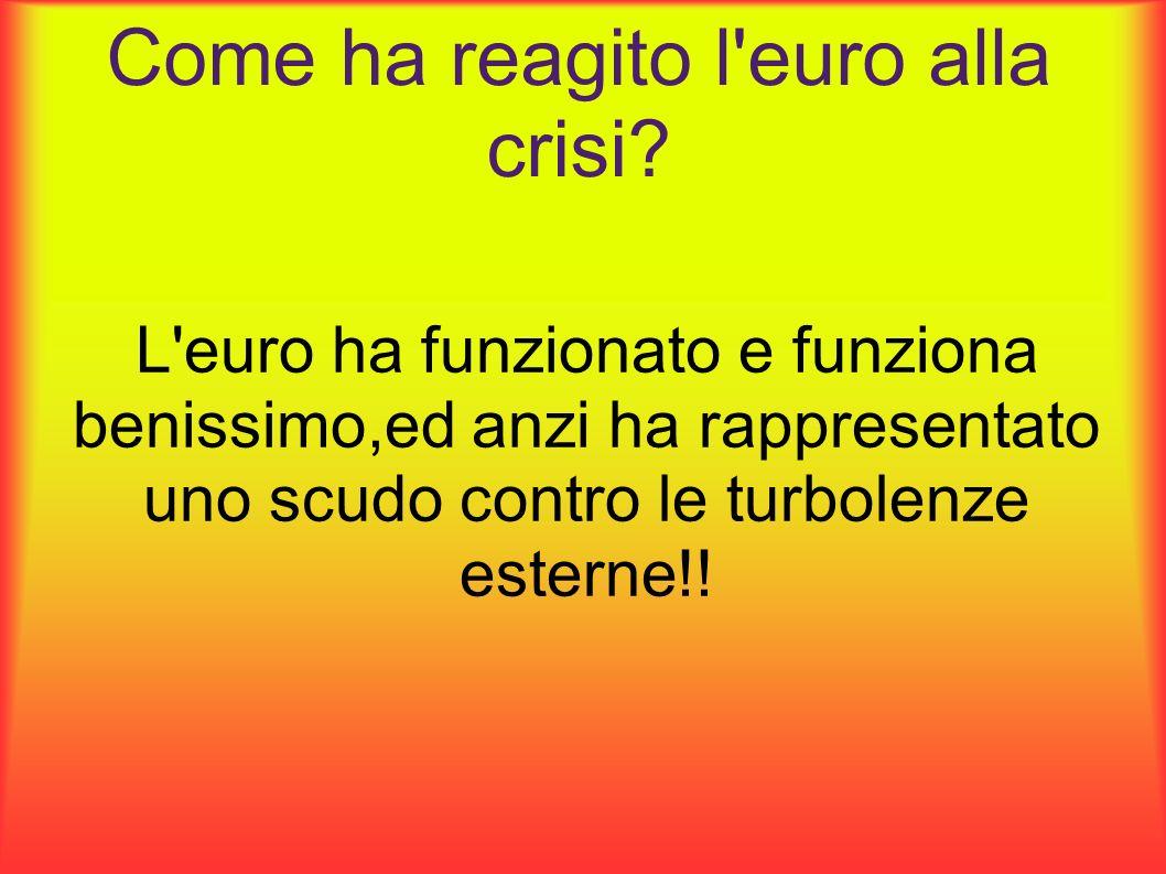 Come ha reagito l euro alla crisi