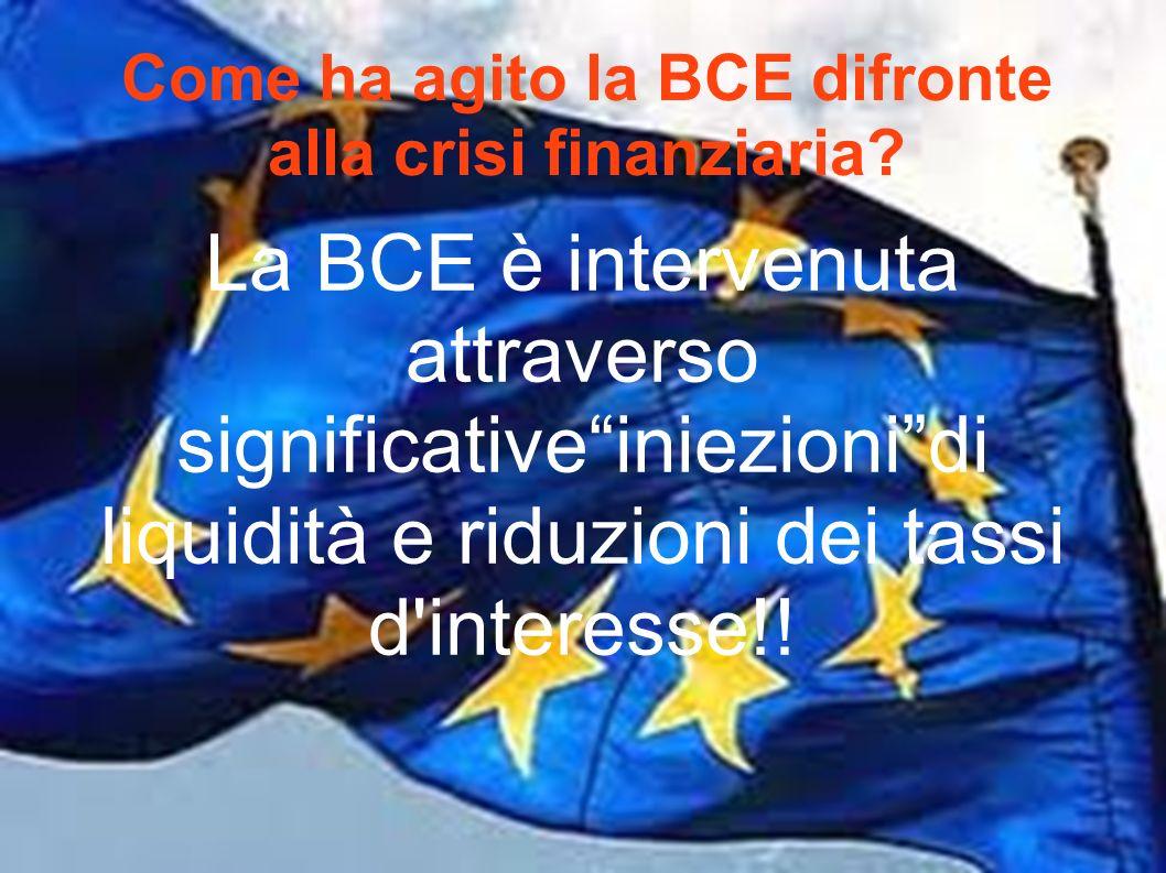 Come ha agito la BCE difronte alla crisi finanziaria