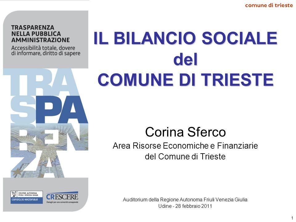 IL BILANCIO SOCIALE del COMUNE DI TRIESTE