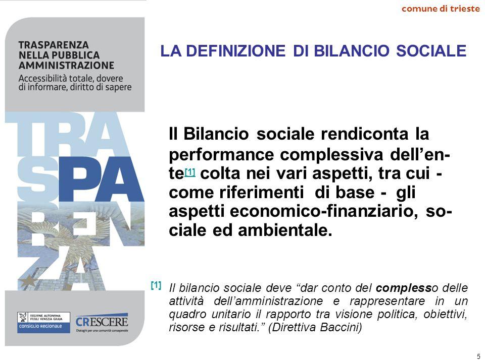 LA DEFINIZIONE DI BILANCIO SOCIALE