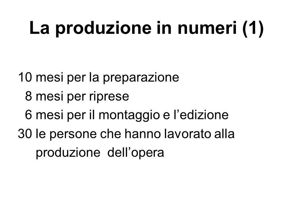 La produzione in numeri (1)