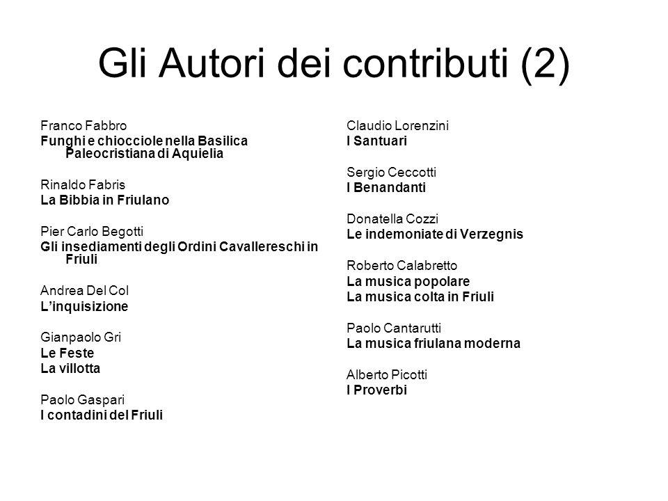 Gli Autori dei contributi (2)