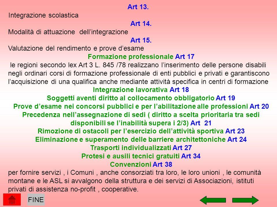 Integrazione scolastica Art 14.