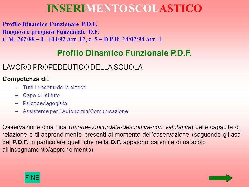 Profilo Dinamico Funzionale P.D.F.