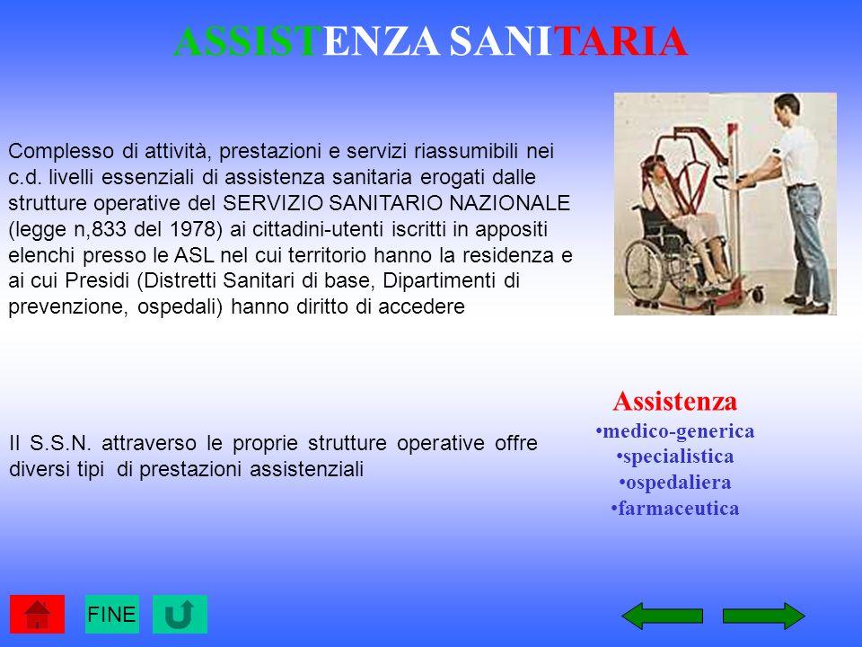 ASSISTENZA SANITARIA Assistenza