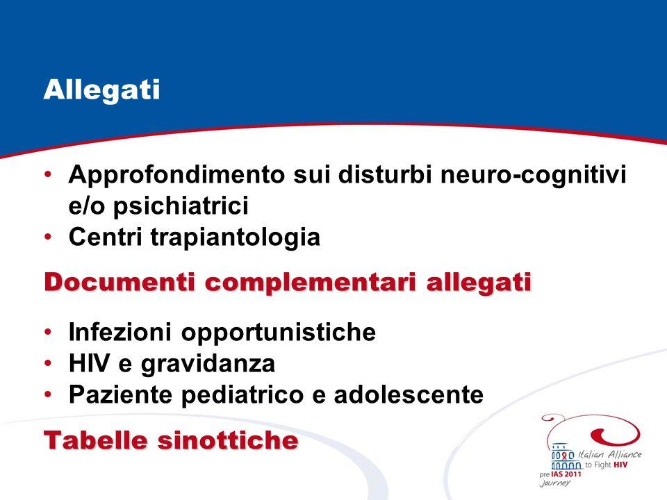 Allegati Approfondimento sui disturbi neuro-cognitivi e/o psichiatrici