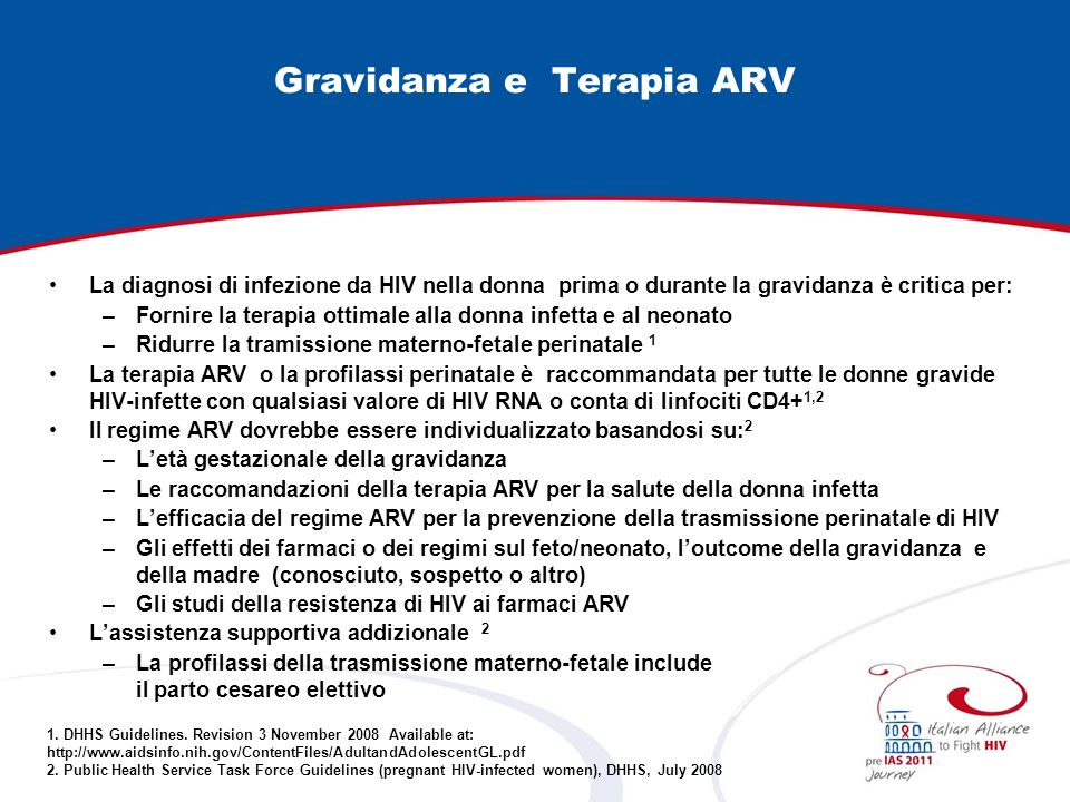 Gravidanza e Terapia ARV