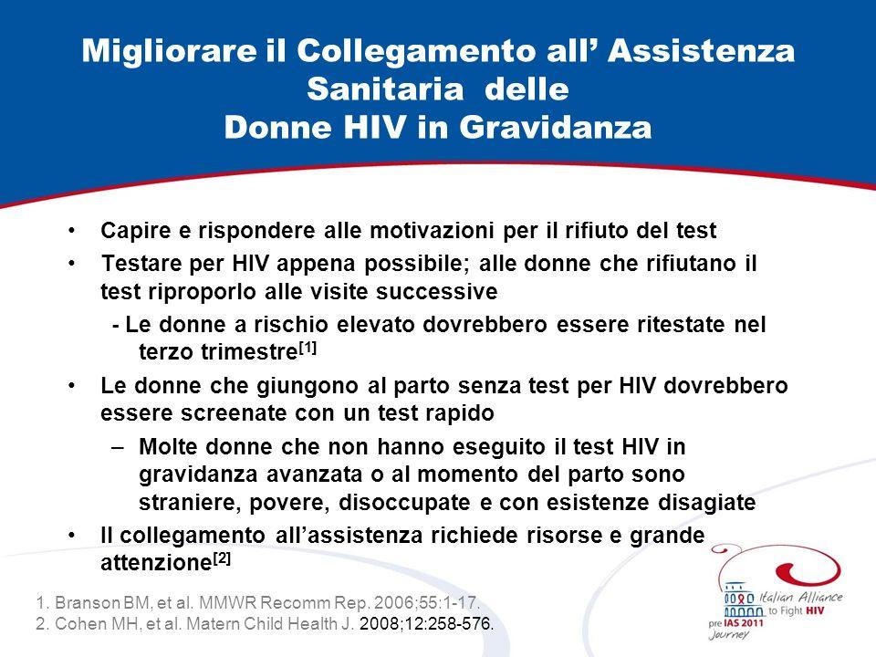 Migliorare il Collegamento all' Assistenza Sanitaria delle Donne HIV in Gravidanza