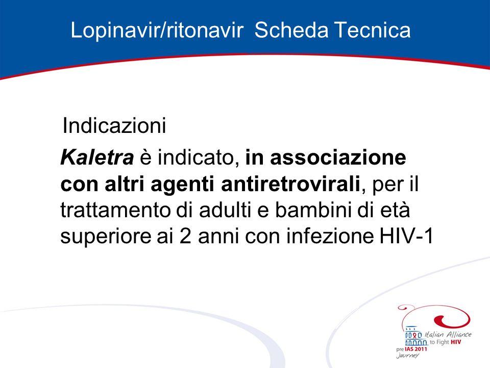 Lopinavir/ritonavir Scheda Tecnica