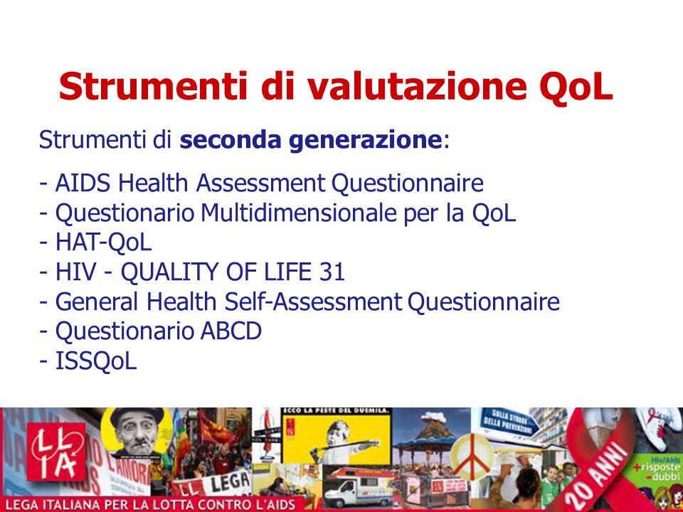 Strumenti di valutazione QoL
