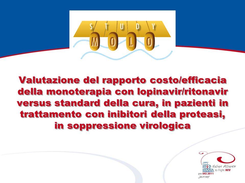 Valutazione del rapporto costo/efficacia della monoterapia con lopinavir/ritonavir versus standard della cura, in pazienti in trattamento con inibitori della proteasi, in soppressione virologica