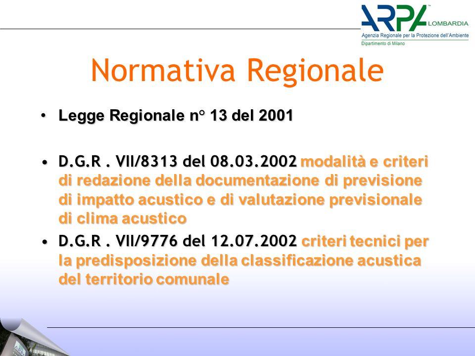 Normativa Regionale Legge Regionale n° 13 del 2001