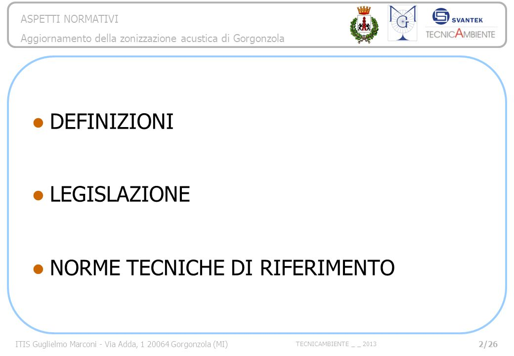 NORME TECNICHE DI RIFERIMENTO